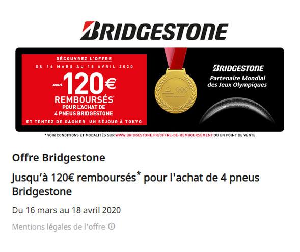 Offre Bridgestone