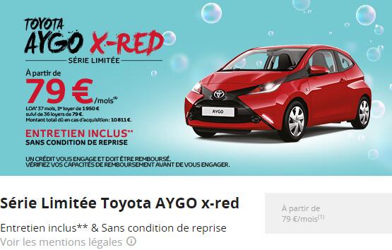 Série Limitée Toyota AYGO x-red